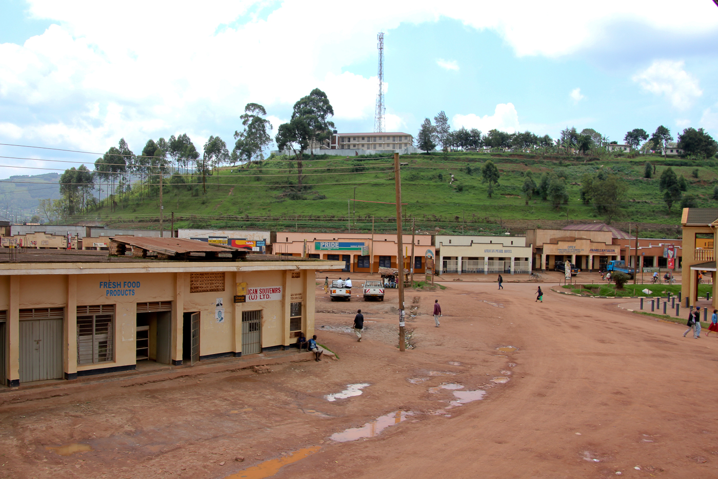The town of Kisoro, Uganda