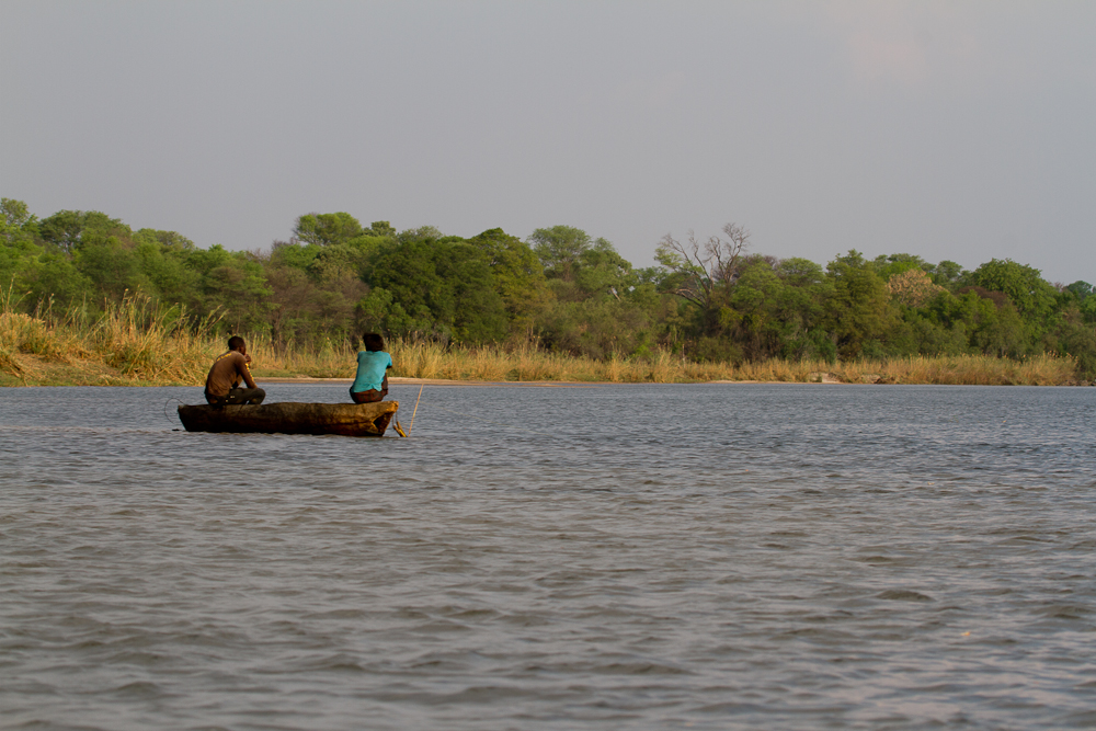 Fishermen (and woman!), Okavango River