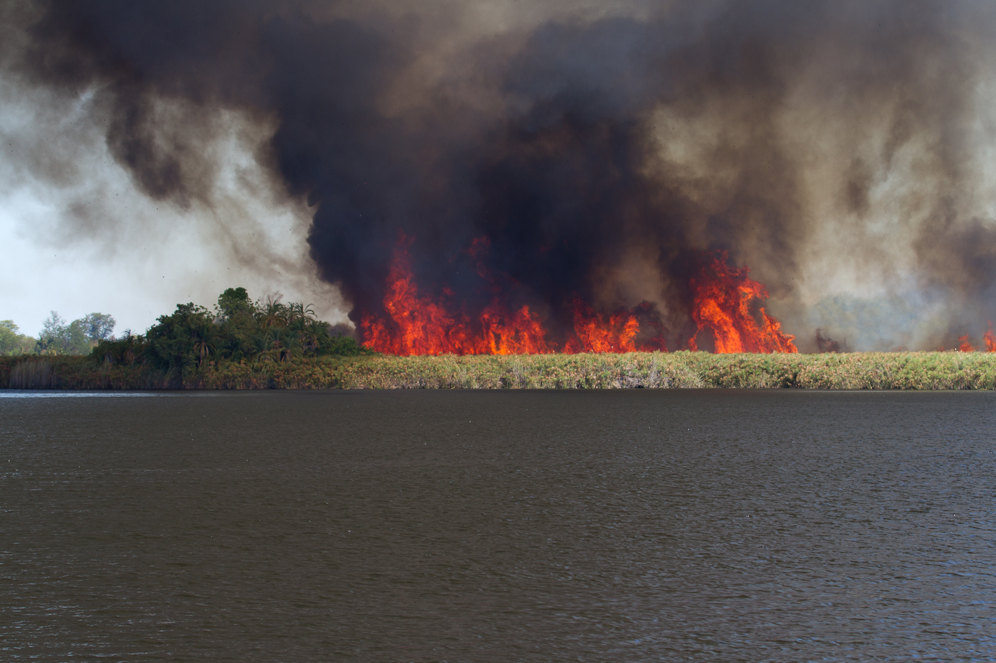Fire at Guma Lagoon. See the blog post for more details.