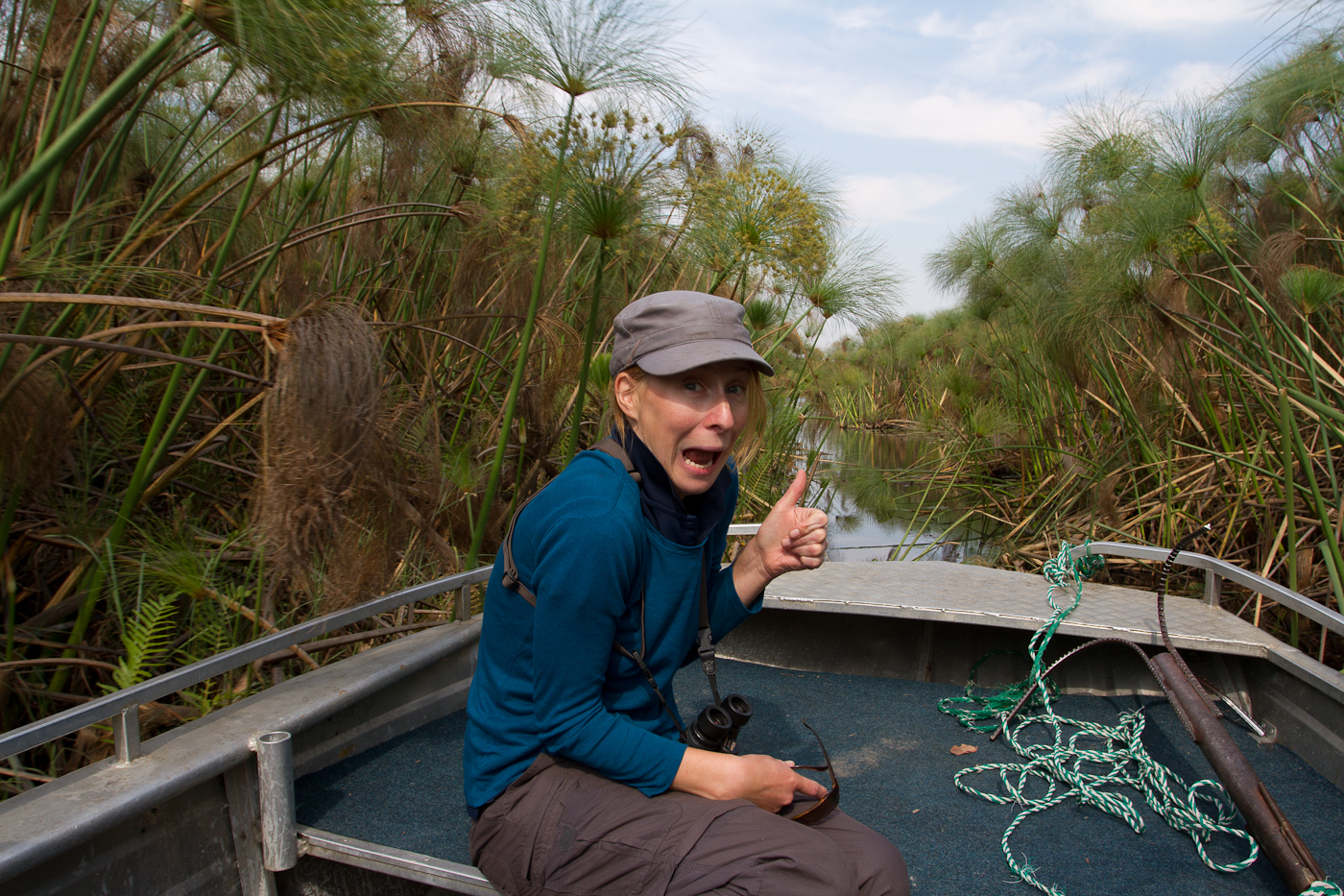 Manu loves the Okavango!