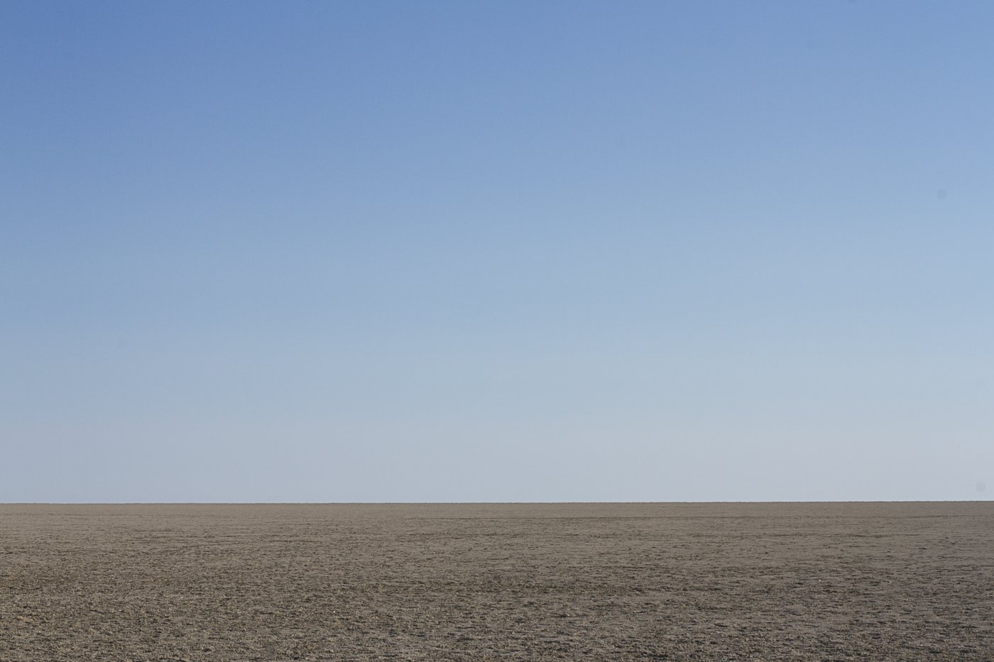 View over the salt pan in Etosha