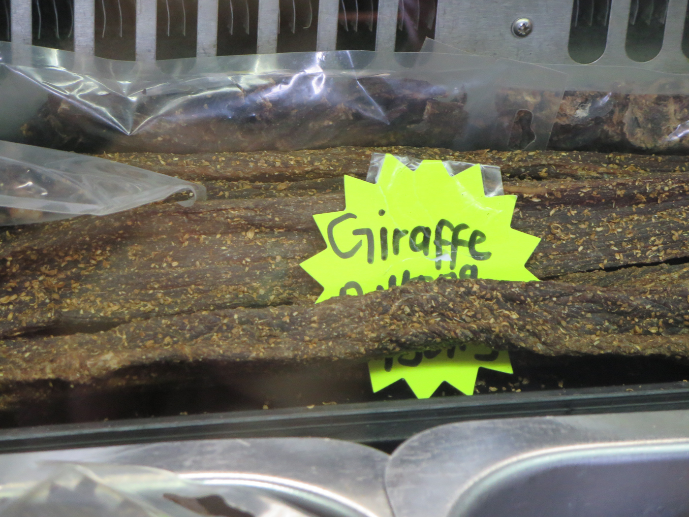 Giraffe Biltong. Yes, we ate it.