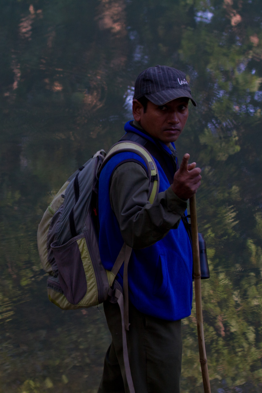 Our intrepid guide during our jungle walks