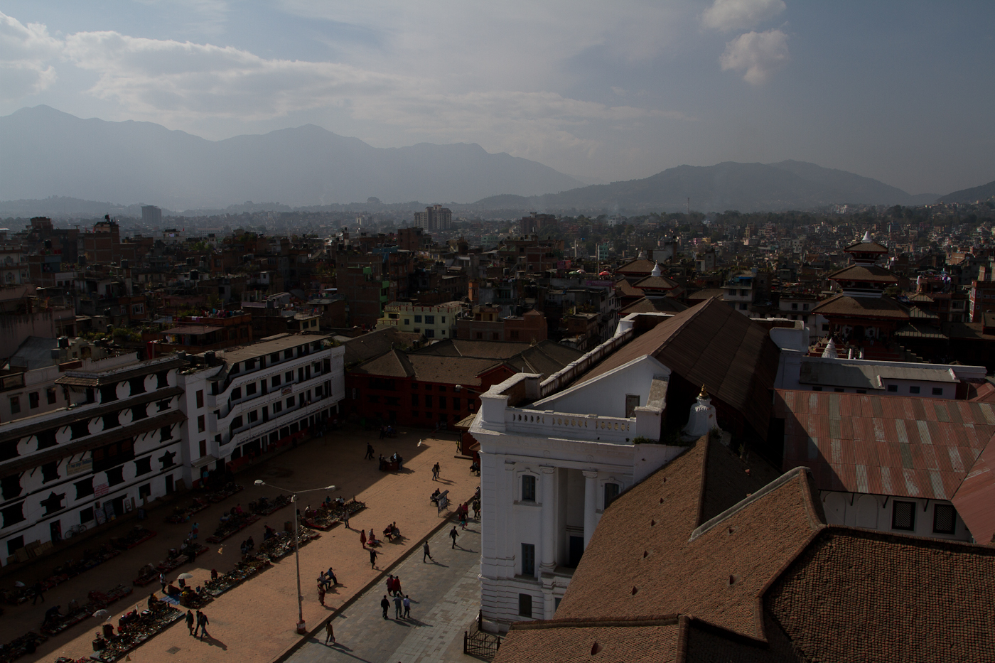 View over Durbar Square in Kathmandu
