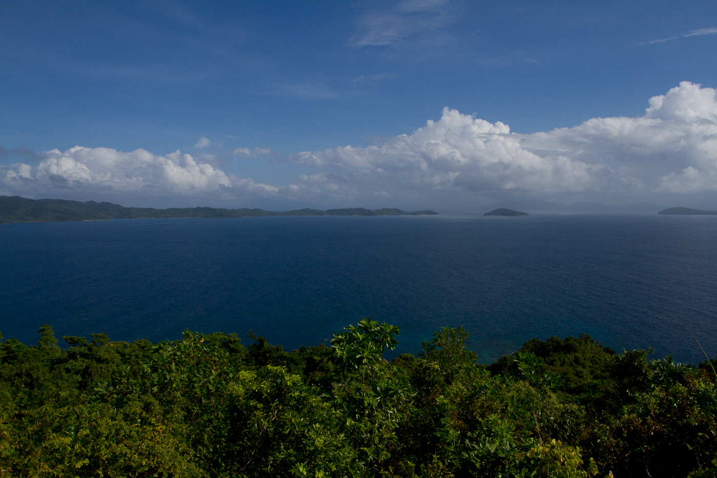 The view from the hill above Blue Cove.