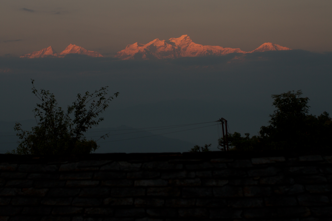 Early morning Himalayan views, Bandipur, Nepal