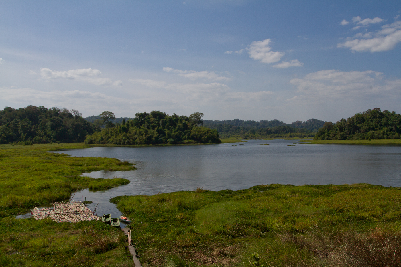 View over Crocodile Lake in Cat Tien