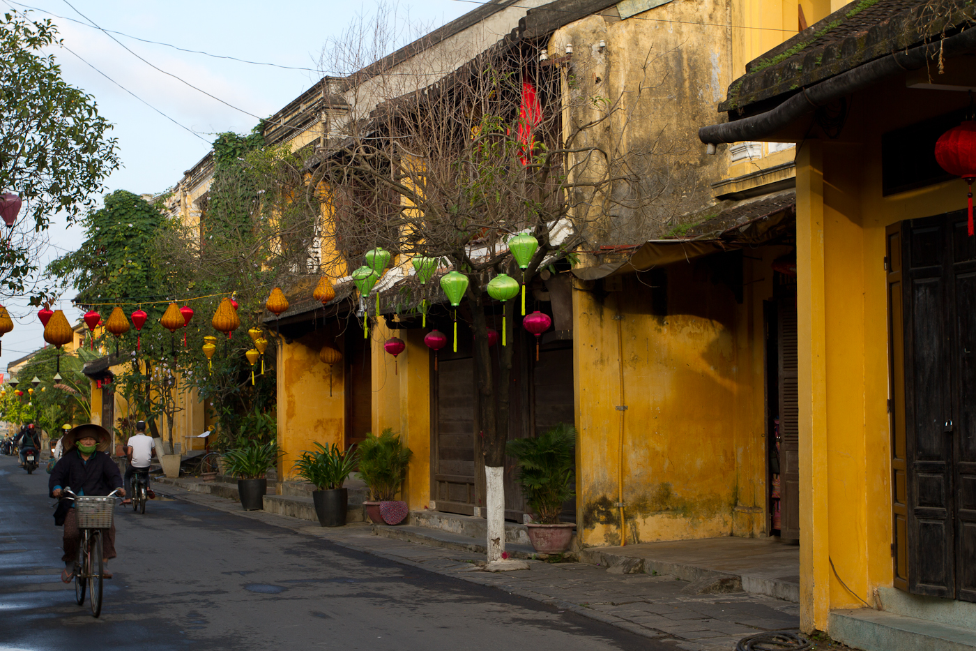 Early morning on the streets of Hoi An