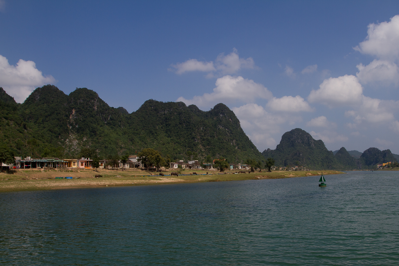 The Son River that runs through Phong Nha