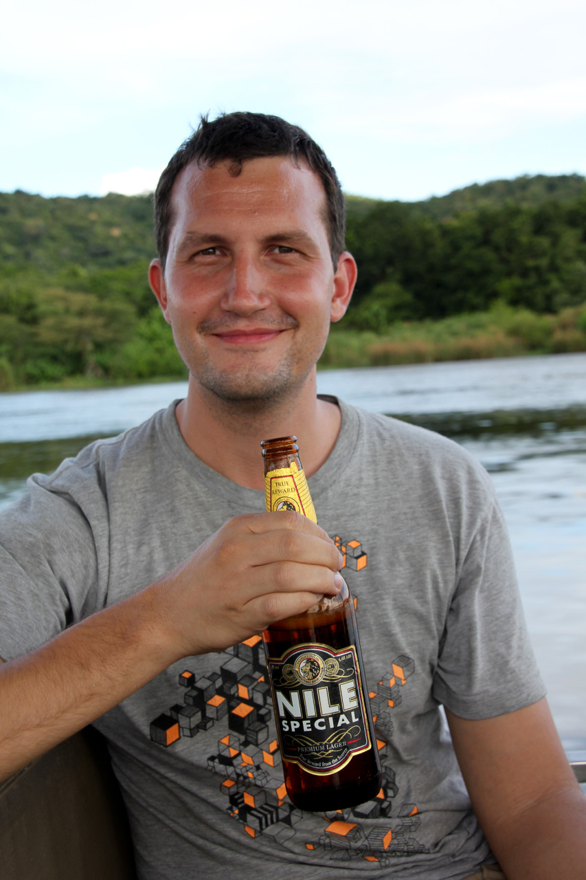 Rick loves Nile Beer on the Nile