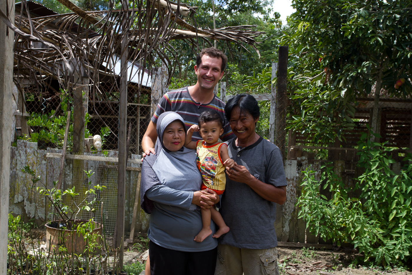 Jamil and his wife Suri were excellent hosts. Here seen with their grandson and what appears to be a giant.