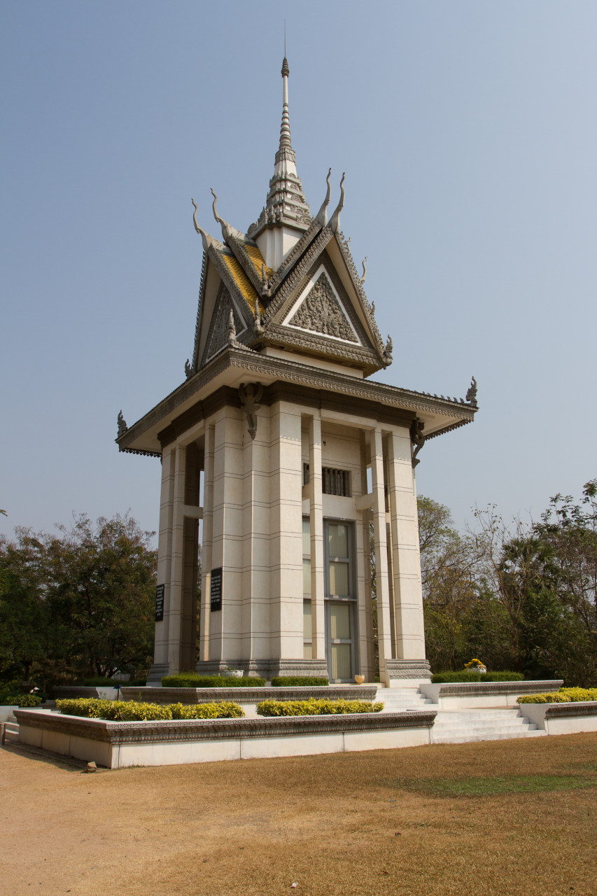 The Killing Fields is a memorial to the victims of the genocide following the American withdrawal from Vietnam.