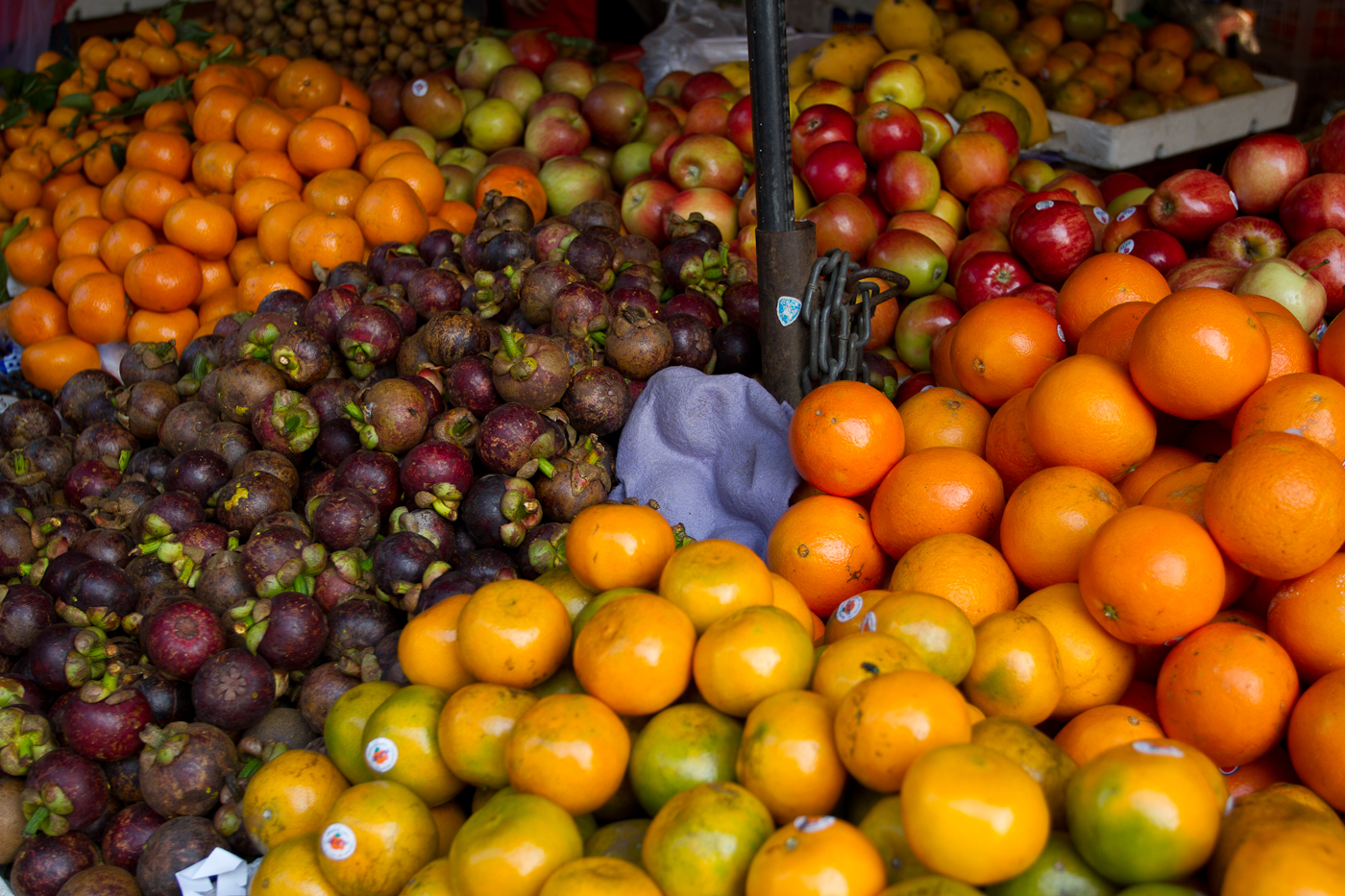Fruits galore at the Russian Market in Phnom Penh.
