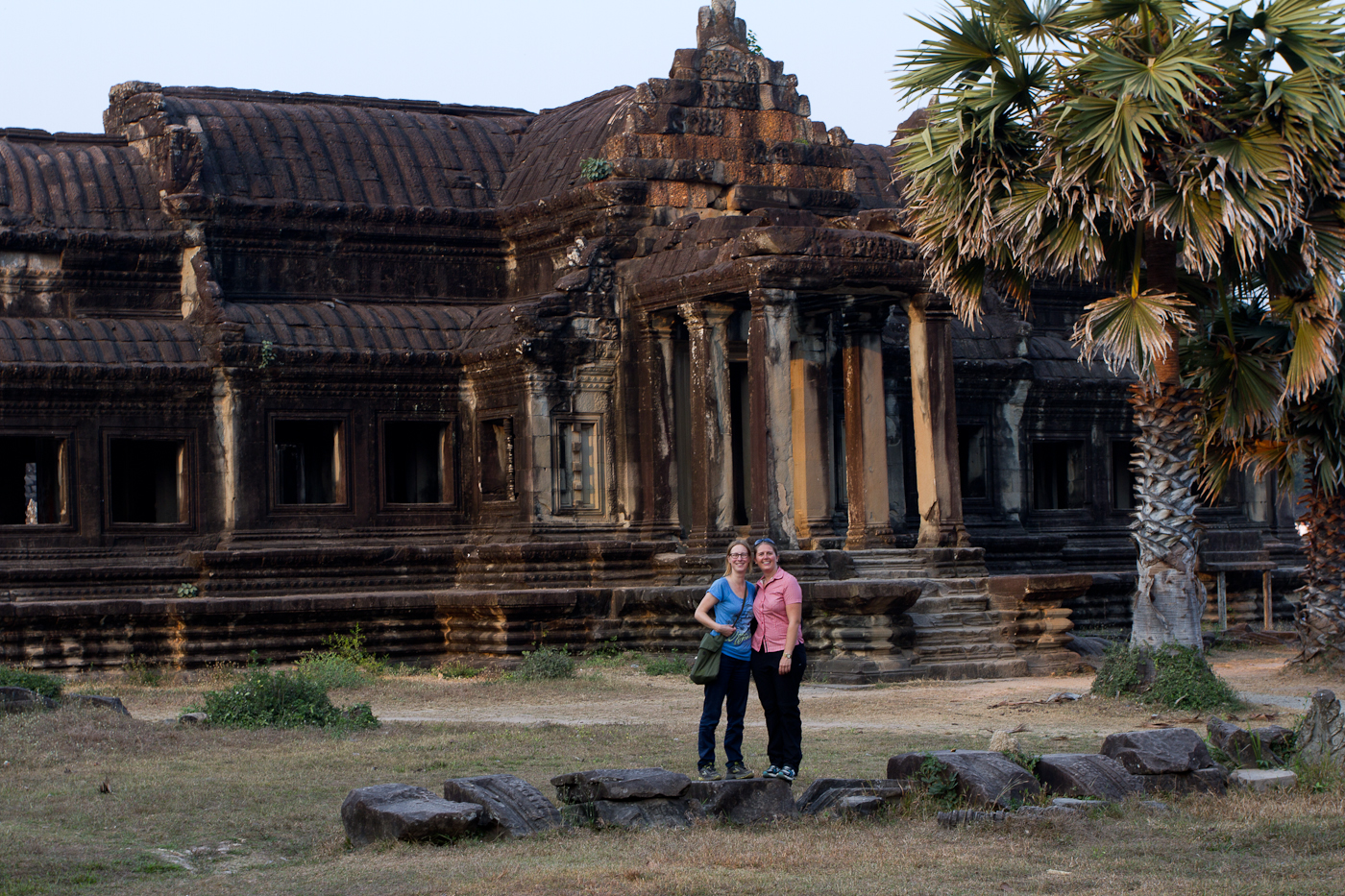 Natascha and Manu at Angkor Wat