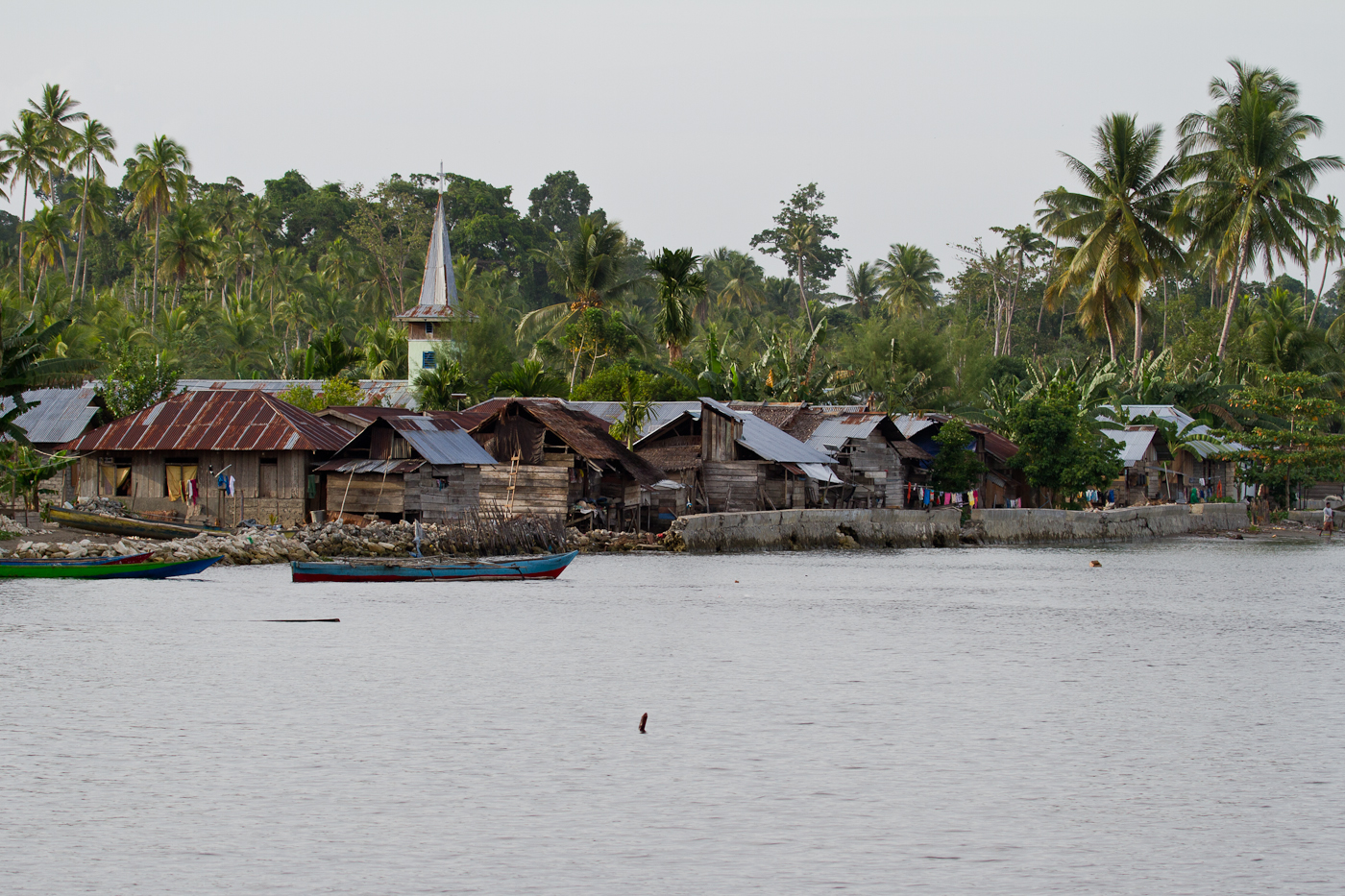 Fishing village in Halmahera near Weda Resort