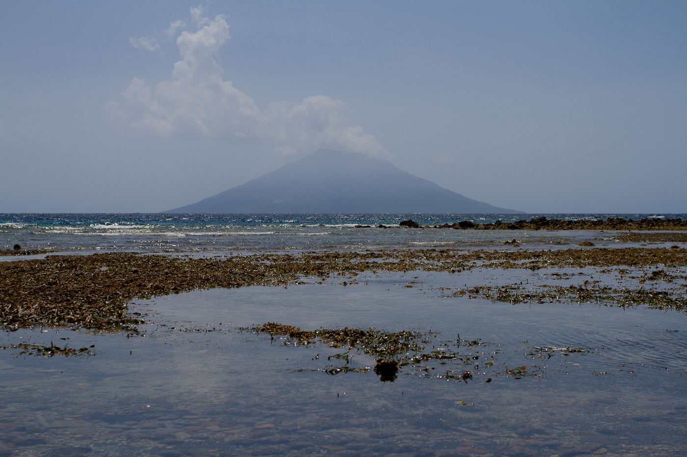 Volcano in the distance, Halmahera