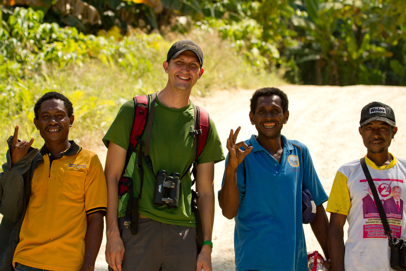 Our guides for the Birds of Paradise in Sapokren. Someone in this picture felt very tall.