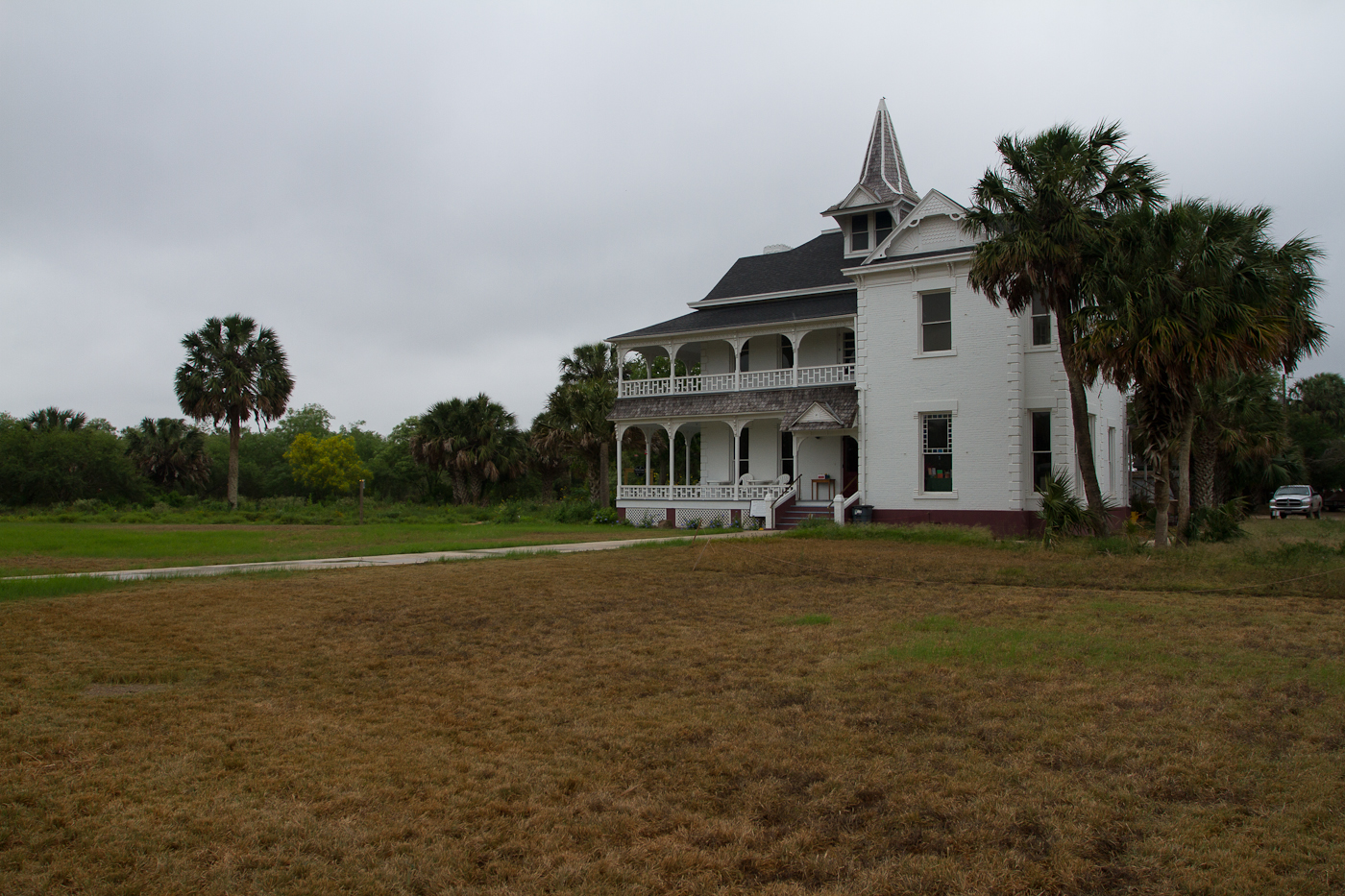 The mansion at Sable Palms, home to a relic forest of Sable