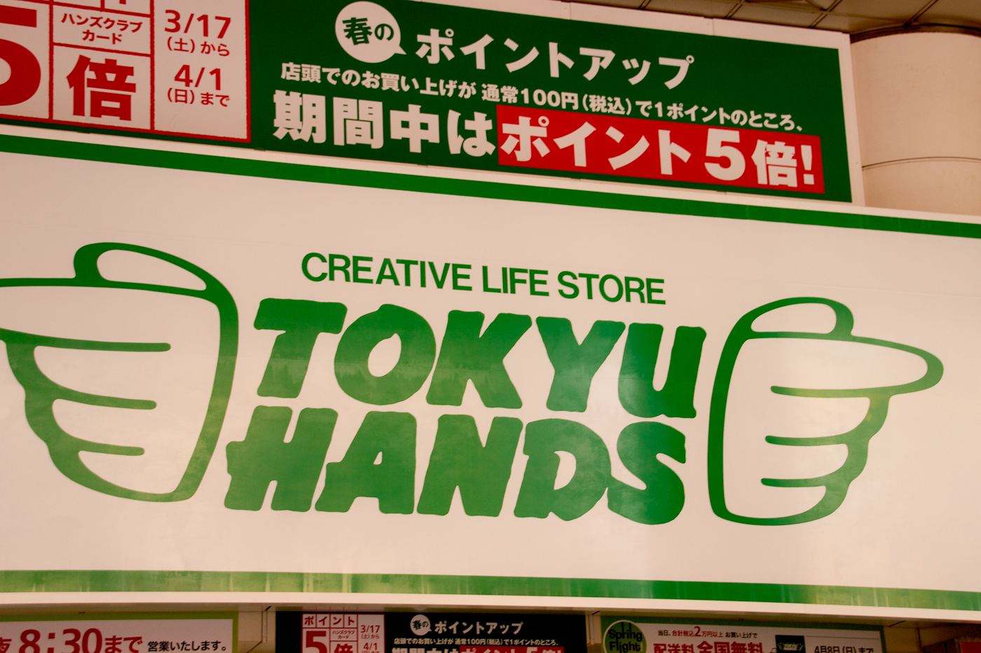 Tokyu Hands is the everything store. Weirdest shopping ever.