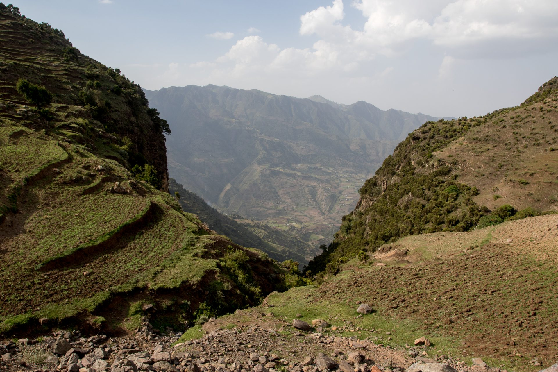 The highlands north of Addis