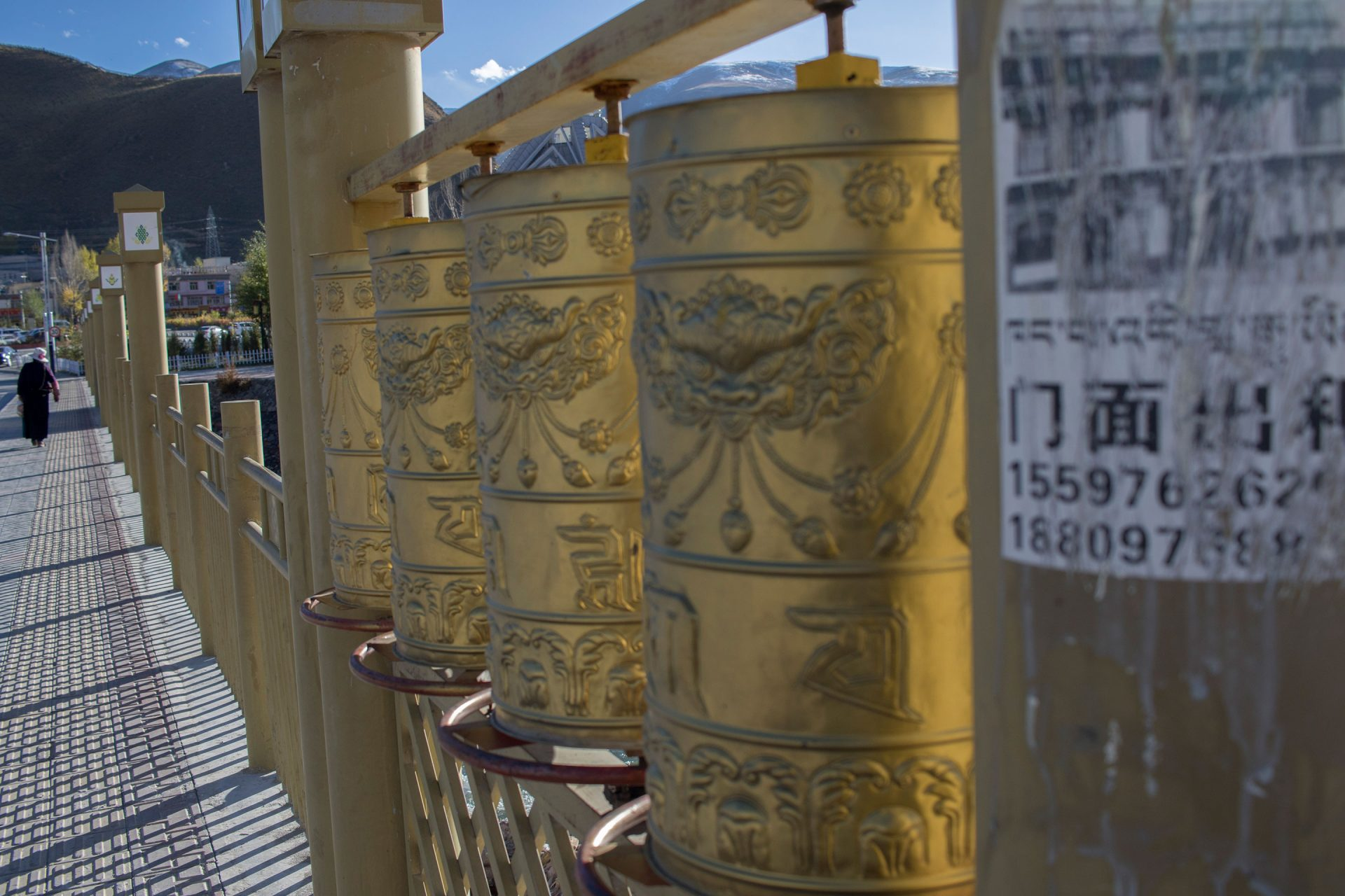Prayer wheels in Yushu