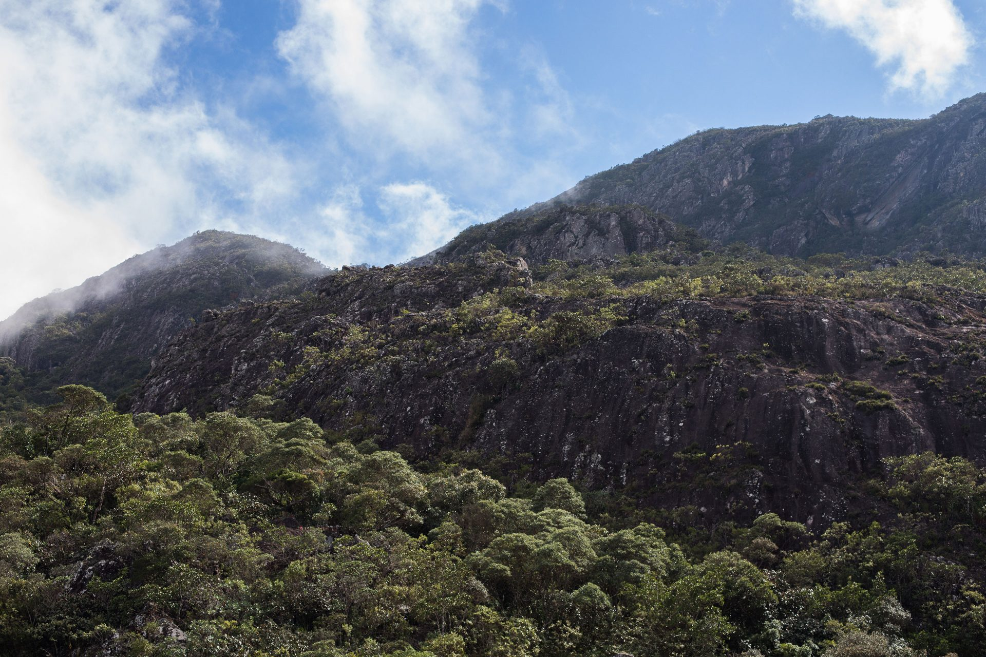 The mountains near Santuario do Caraca.