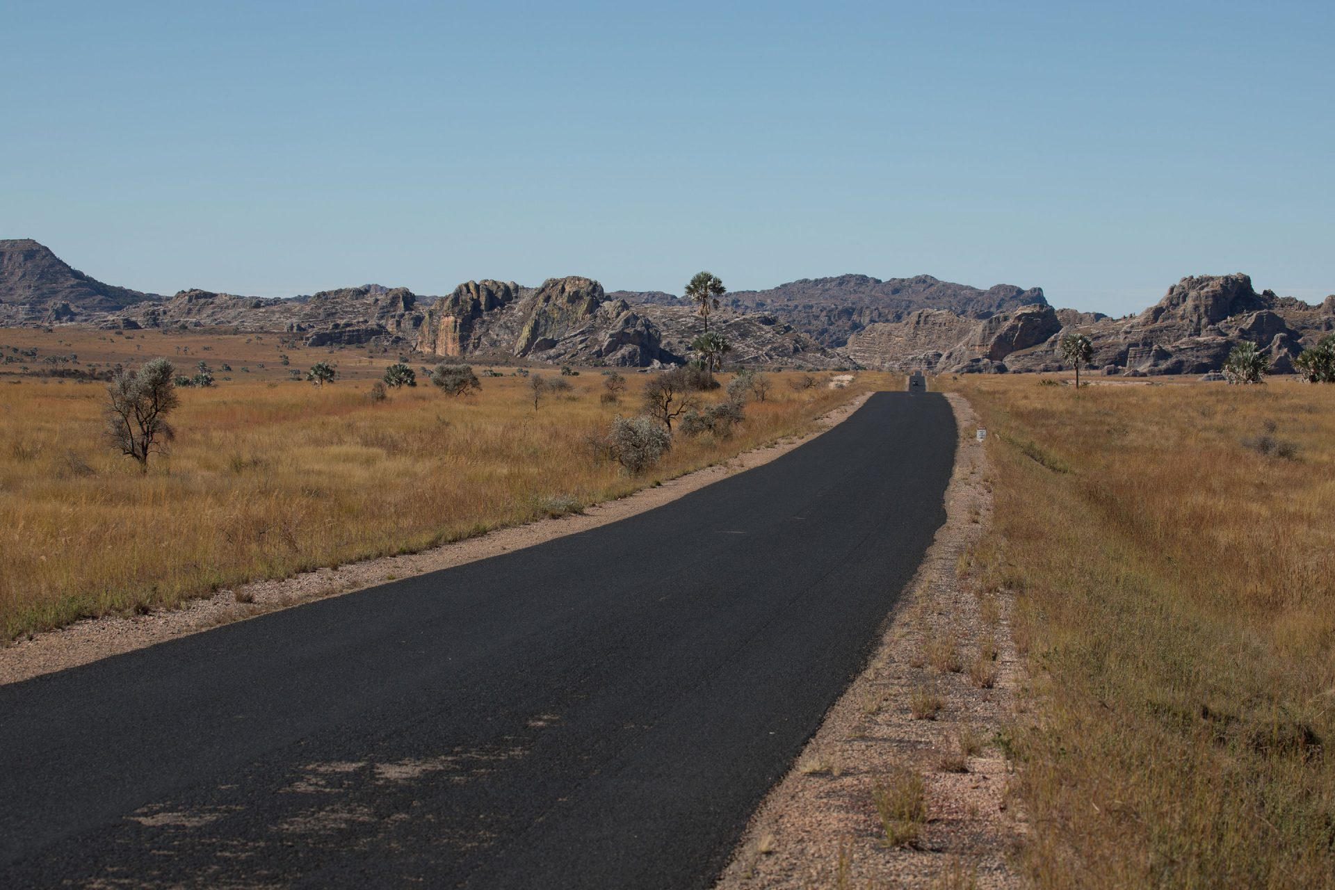 The road to Isalo National Park
